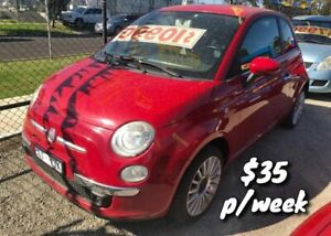2011 Fiat 500 Series 1 Sport Dualogic Red 5 Speed Sports Automatic Single Clutch Hatchback Cranbourne Casey Area Preview