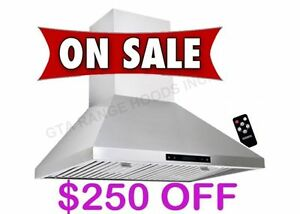 860 CFM KITCHEN RANGE HOOD FAN WITH REMOTE $399 ONLY
