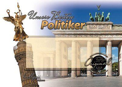 2 Blanko Autogrammkarten zum eigenen sammeln : Unsere Besten Politiker
