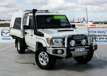 2010 Toyota Landcruiser VDJ79R MY10 GXL White 5 Speed Manual Cab Chassis Osborne Park Stirling Area Preview