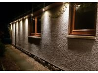 Outdoor security lighting installation service for your home or business