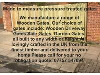 Made to measure pressure fitted gates