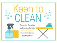 Domestic Cleaning and Ironing Service - Keen to Clean