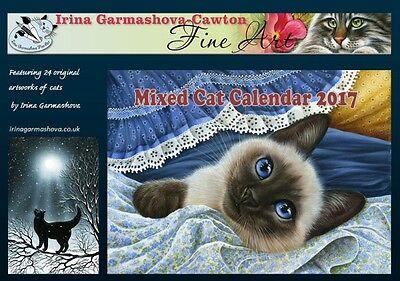 Mixed Cat Calendar 2017 from originals by Irina Garmashova