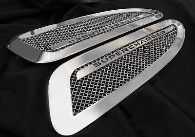 Jaguar XKR Supercharged Mesh Hood Louver Replacement set chrome / black / paint
