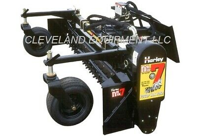 72 Harley Rake Attachment By Paladin M6h - Hydraulic Angle Skid Steer Loader 6