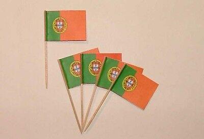 Flaggen Zahnstocher Portugal Fahne Flagge Minipicker Partyzahnstocher