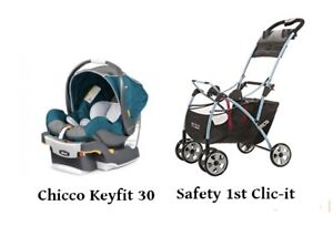 Poussette et coquille Chicco - Stroller and infant car seat