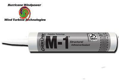 1 TUBE Chemlink M1 BLACK Structural Sealant - 10.1 oz Cartridge - ChemLink M-1