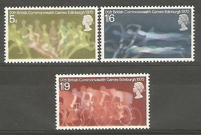 SG832-834 1970 COMMONWEALTH GAMES Unmounted Mint GB