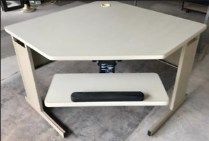 Corner computer table and extension rectangular table