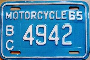 == Classic BIKE ?  RARE vintage Motorcycle LICENSE PLATES ! ==