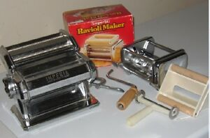 Pasta Maker with Ravioli Maker Attachment to make fresh pasta