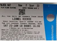 X2 Lionel Richie tickets Hove