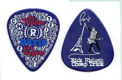 Cheap Trick Rick Nielsen Paris Las Vegas Blue Guitar Pick - 2010 Tour