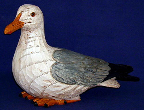 Seagull Resting~Shore Birds~Nautical Decor~Resin Polystone/Looks Like Real Wood