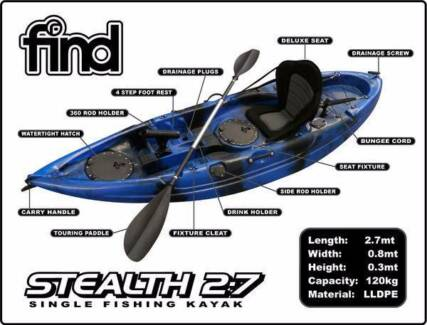 Fishing Kayaks For Sale-Dandenong South - Limited Stock