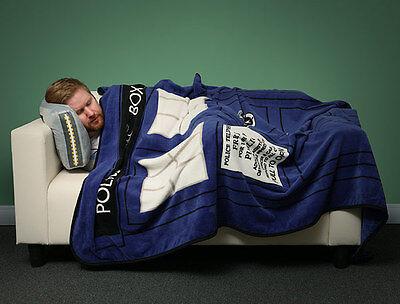 Doctor Who TARDIS DR.WHO Blue Police Call Box Coral Fleece Throw Blanket
