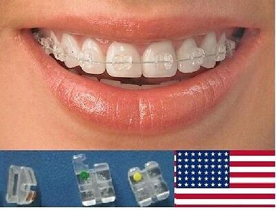 - Absolute Clear Sapphire Ceramic Orthodontic Brackets Braces Roth 022 US Seller