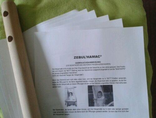 Zebul'hamac Zebulamac PDF ANLEITUNG GEBRAUCHSANWEISUNG Hängematte Petite Planete