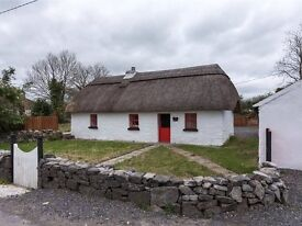 Traditional Thatched Cottage For Sale Co. Roscommon Ireland, Country Setting on 3/4 Acre