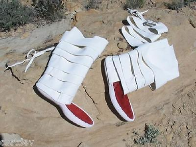 WOMEN's TRADITIONAL NAVAJO LEGGING THICK SOLE MOCCASINS