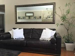 Beautiful high quality leather couch (seats 5)