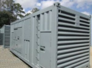 1300 KW Cummins Gas Generator Sets Containerized - RARE OFFER