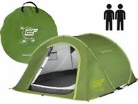 Quechua 2 man 2 second pop up tent green