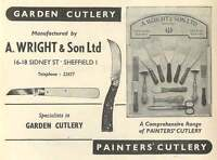 1953 A Wright Cutlery Sidney Street Sheffield Ad -  - ebay.co.uk