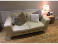 Quality dfs sofa 4 seater and 2 seater