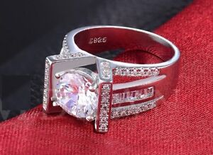 Wedding Ring White Gold Plated CZ diamond