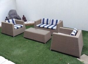 WICKER RATTAN CANE INDOOR OUTDOOR 4 PIECE LOUNGE SETTING VGC Woolloongabba Brisbane South West Preview