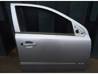 Vauxhall Astra H MK5 Drivers Door Silver
