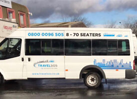 16 Seater Minibus Hire With A Driver In West Midlands