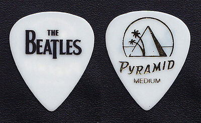 Cheap Trick Tom Petersson Beatles Medium White Guitar Pick - 2009 Tour