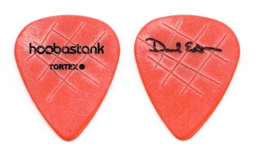 Hoobastank David Amezcua Signature Concert-Used Orange Guitar Pick - 2008 Tour