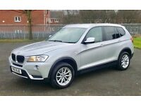 BMW X3 2.0D SE 2012 AUTO SILVER 74K MILES 4x4 WHEEL DRIVE ONLY £12500.00