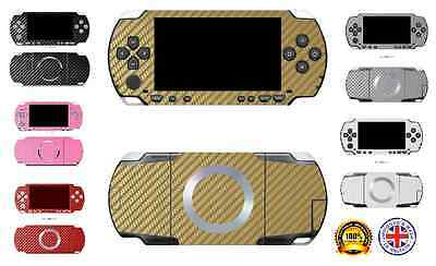 3D Textured Carbon Fibre Skin Sticker Vinyl Wrap for Sony PSP 3000 Slim & Lite