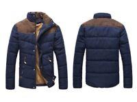 Men's Contrast shoulder padded jacket - Navy XL