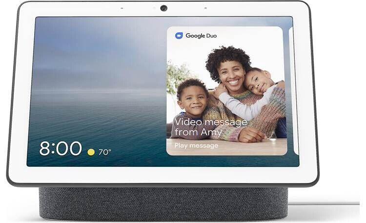 Google Nest Hub Max Chalk Smart Home Device