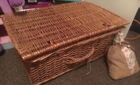 Antique Basket/ Storage Box