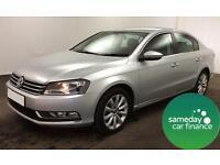 £240.10 PER MONTH SILVER 2013 VW PASSAT 1.4 BMT HIGHLINE DSG SALOON PETROL AUTO