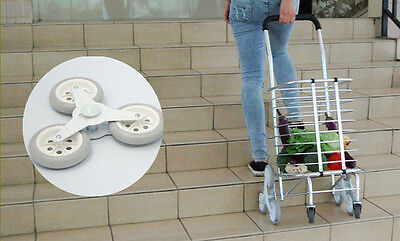 Stair Climbing Cart 8 Wheels Folding Shopping Handcart Rolling Utility
