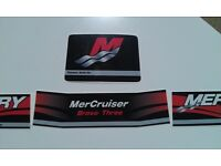 Mercury Decals Mercury Mercruiser  BRAVO ONE Decal YELLOW  4 piece Set
