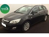 £137.04 PER MONTH BLACK 2012 VAUXHALL ASTRA 1.7 CDTI E/F TECHLINE 5 DOOR MANUAL