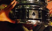 """PDP """"Ace"""" 14x5 chrome over brass snare"""