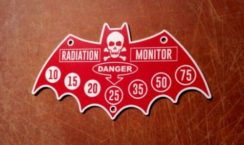 CUSTOM 1966 ATOMIC PILE RADIATION MONITOR DANGER PLATE BATMAN TV SERIES