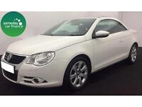 £148.64 PER MONTH WHITE 2010 VW EOS 1.4 TSI SE CONVERTIBLE