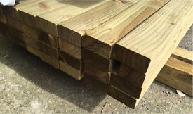 """🌳Tanalised Wooden Lengths/Rails ~New~ 4""""x 2""""X 4.2M 🌳"""
